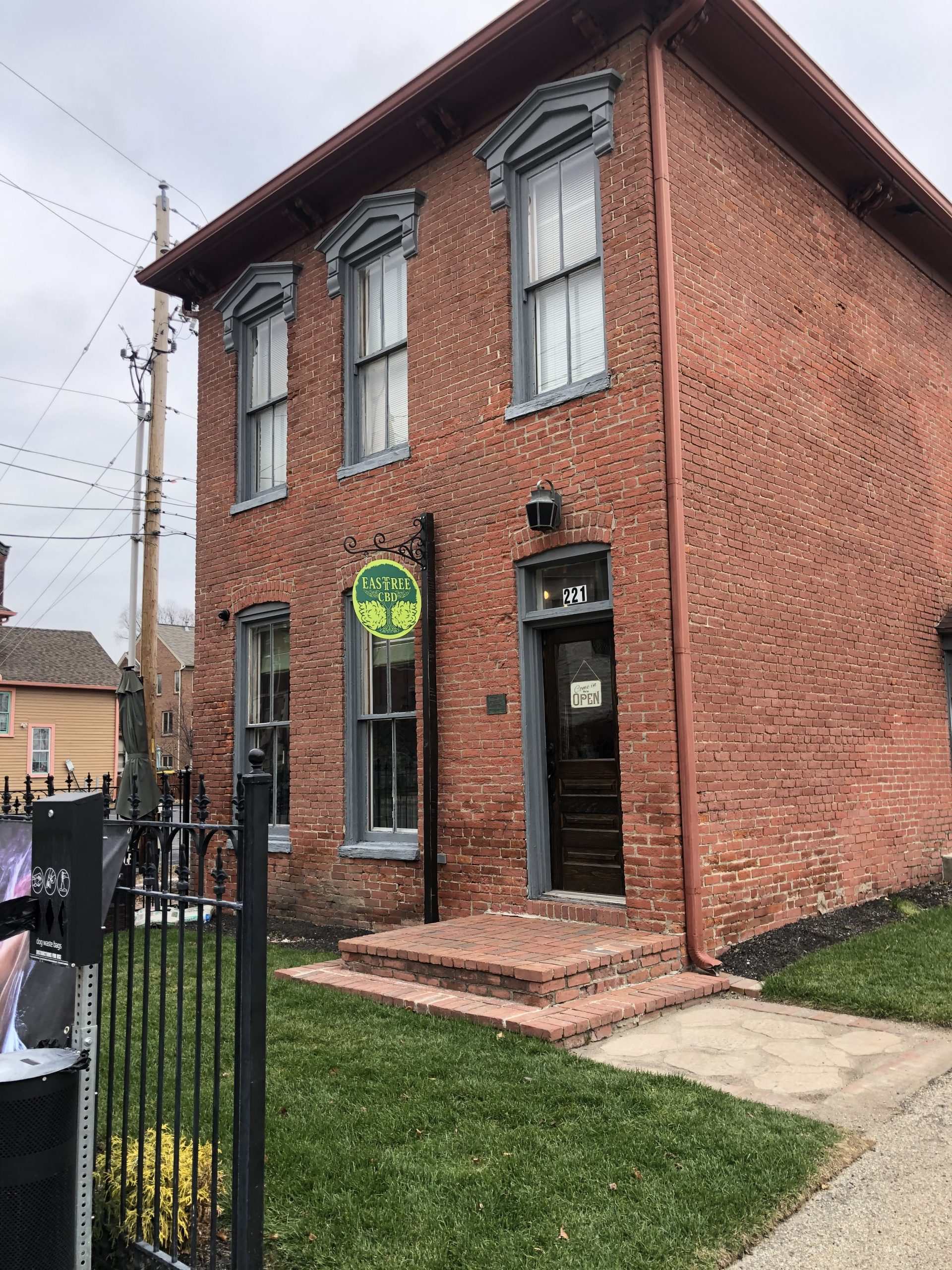 East Tree CBD Dispensary Store Front located at 221 N. East Street, Indianapolis, IN. 46204